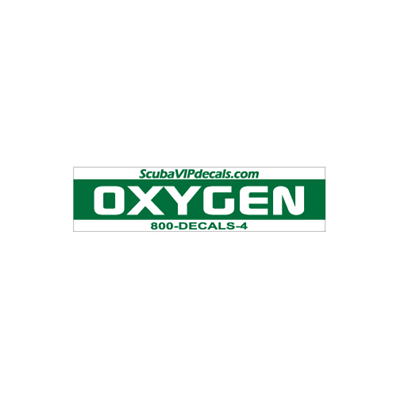 "Oxygen Tank Wrap - 25.5""x6"", Green/White"