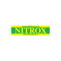 "Nitrox Tank Wrap - 25.5""x6"", Green/Yellow"